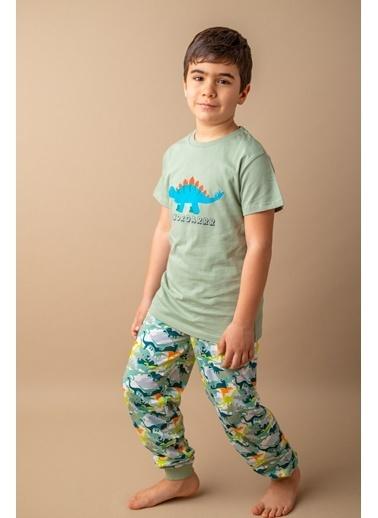 Zeyland Yeşil Dinoroar Pijama Takımı (5-12yaş) Yeşil Dinoroar Pijama Takımı (5-12yaş) Yeşil